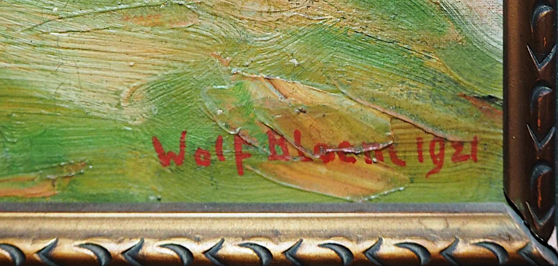 """1 Ölgemälde """"Herbstliche Flussbiegung"""" R.u. sign. Wolf BLOEM (wohl 1896-1971) dat. 1 - Bild 3 aus 4"""