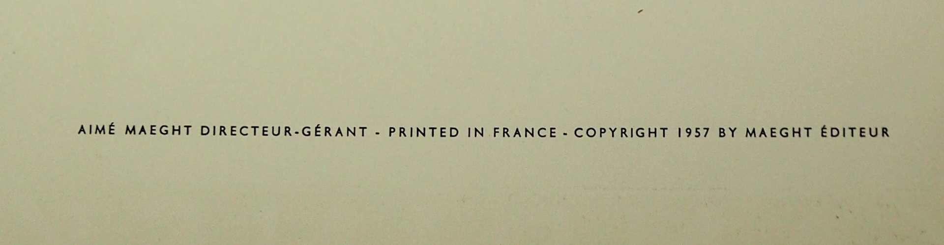 """1 Farblithographie """"Derrière le Miroir"""" unten mittig bez./rücks. zugeschr. Wassily KANDINSKY</ - Bild 3 aus 3"""