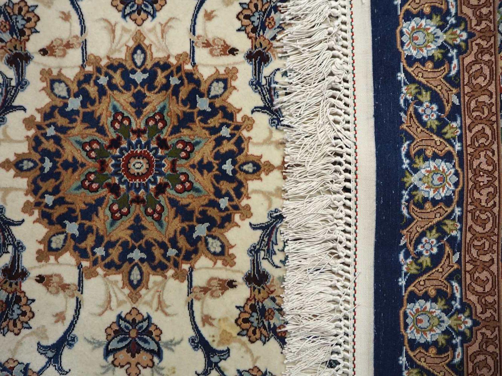 1 Orientgalerie ISFAHAN, Persien Korkwolle mit Seide ca. 1000 000 Knoten/qm², Mittelf - Bild 2 aus 2