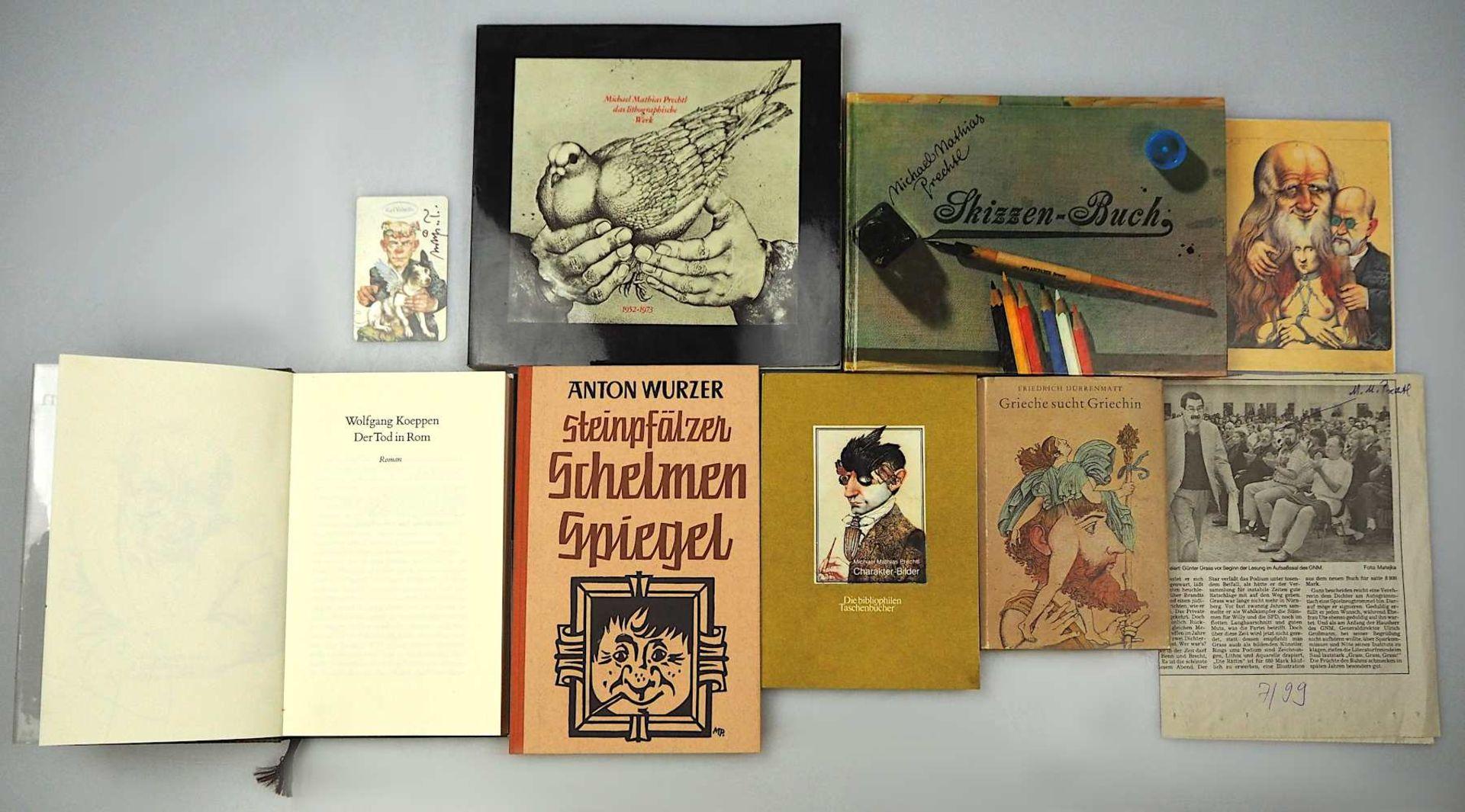 1 Sammlung Kunstbücher mit dem Schwerpunkt Michael Mathias PRECHTL (wohl 1926-2003) z.T. mit Or - Bild 11 aus 11