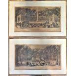 1 Serie von 6 Radierungen des Künstlers Jacques RIGAUD (wohl ca. 1671/91-1754) mit dem Schwerpu