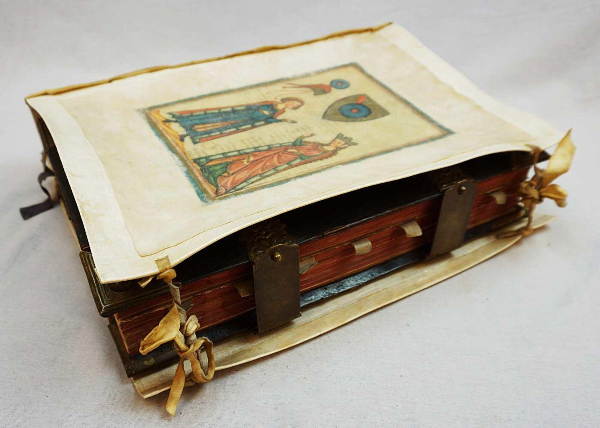 """1 Buch """"Missale Romano-Moguntinum ... D. Philippi Caroli"""" dat. 1742 mit Kupferstichen - Bild 2 aus 3"""