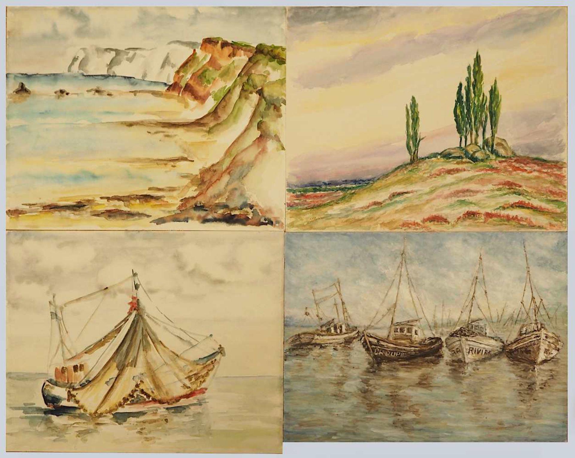 1 Sammlung Aquarelle/Temperamalereien überwiegend der 1960er/1970er Jahre der Künstlerin Mecht