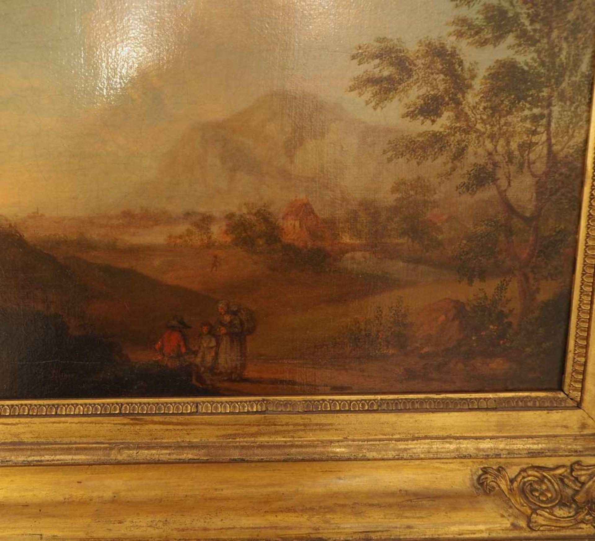 """1 Ölgemälde""""Idealisierte Landschaft mit Personenstaffage"""", L.u. sign. J. STOISSER ( - Bild 5 aus 5"""