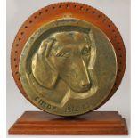 """1 Memorabilia/Bronzeplatte """"Cindy 1972-85"""" am Rand bezeichnet JECZA (wohl Peter J. 193"""