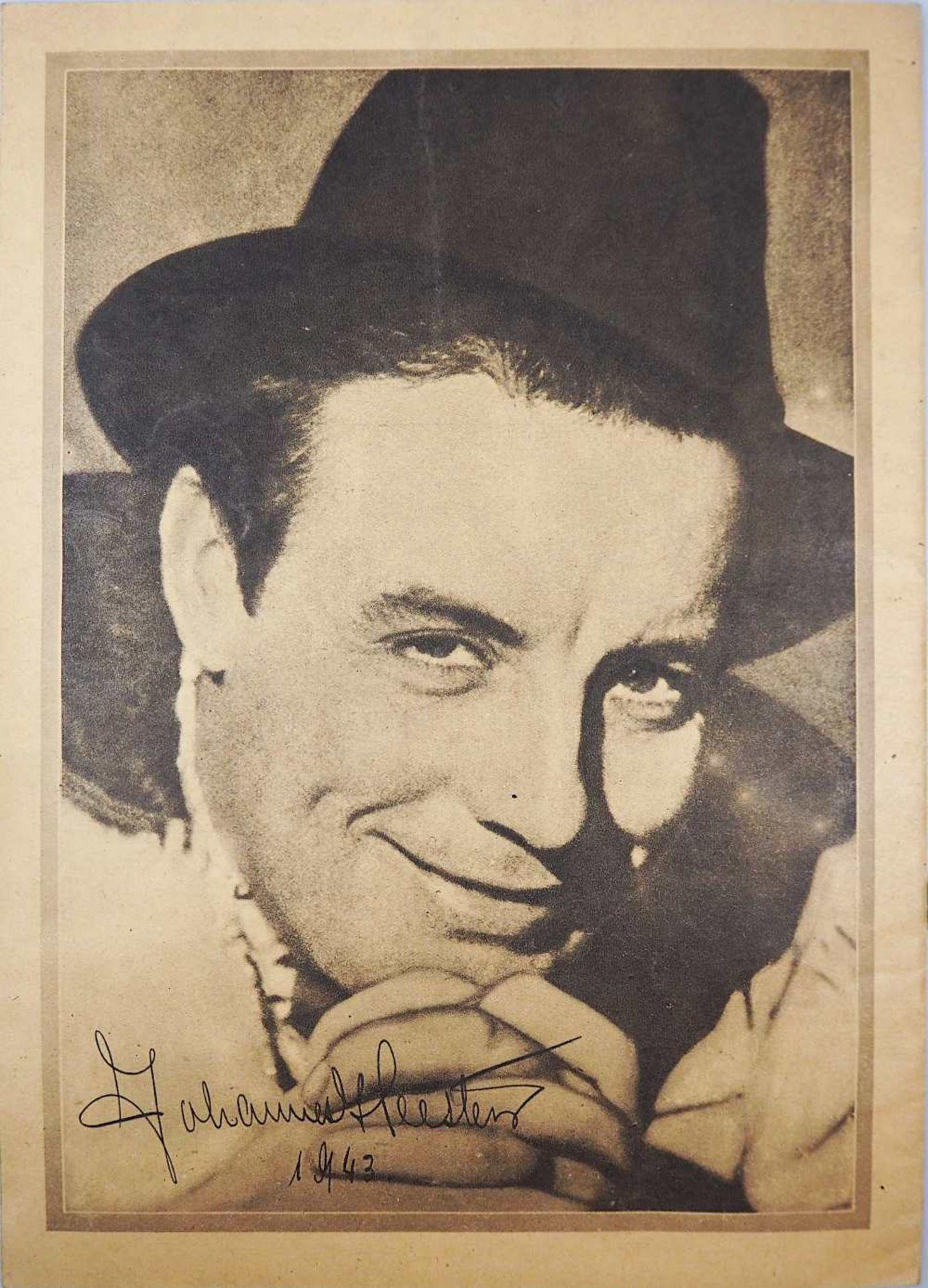 """1 Notenheftchen """"Johannes Heesters singt für Sie"""" mit Originalunterschrift, datiert 1943 <b - Bild 2 aus 4"""
