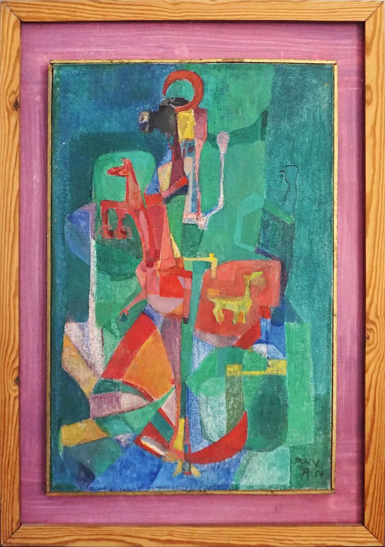 "1 Ölgemälde ""Inanna"" R.u. monogr. PHN (wohl Paul Heinreich NODNAGEL 1928-2009) dat."