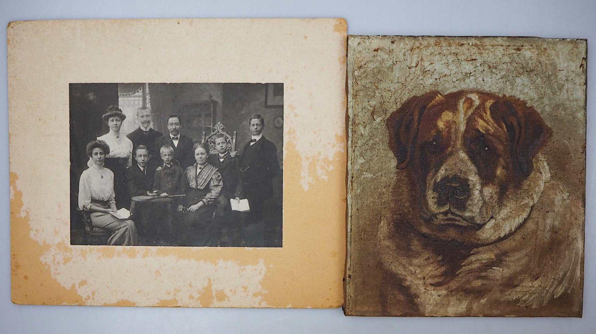 1 Konvolut Ölgemälde u.a.: Portraits von versch. Persönlichkeiten/versch. Künstler: <br - Bild 4 aus 4