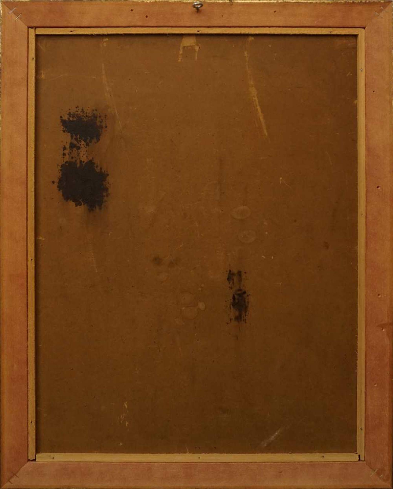 """1 Ölgemälde """"Goldrutenstrauß mit Kupferkanne und Folianten"""" R.u. sign. F. LAUSEKER <b - Bild 4 aus 4"""