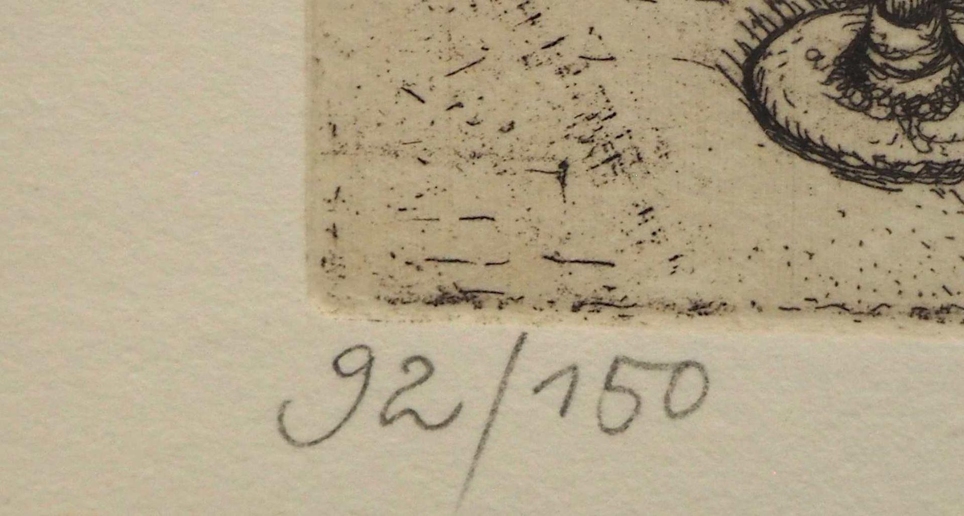 "1 Farblithografie R.u. bleistiftsign. M. M. PRECHTL (wohl Michael Mathias P. 1926-2003), ""Rembra - Bild 5 aus 6"