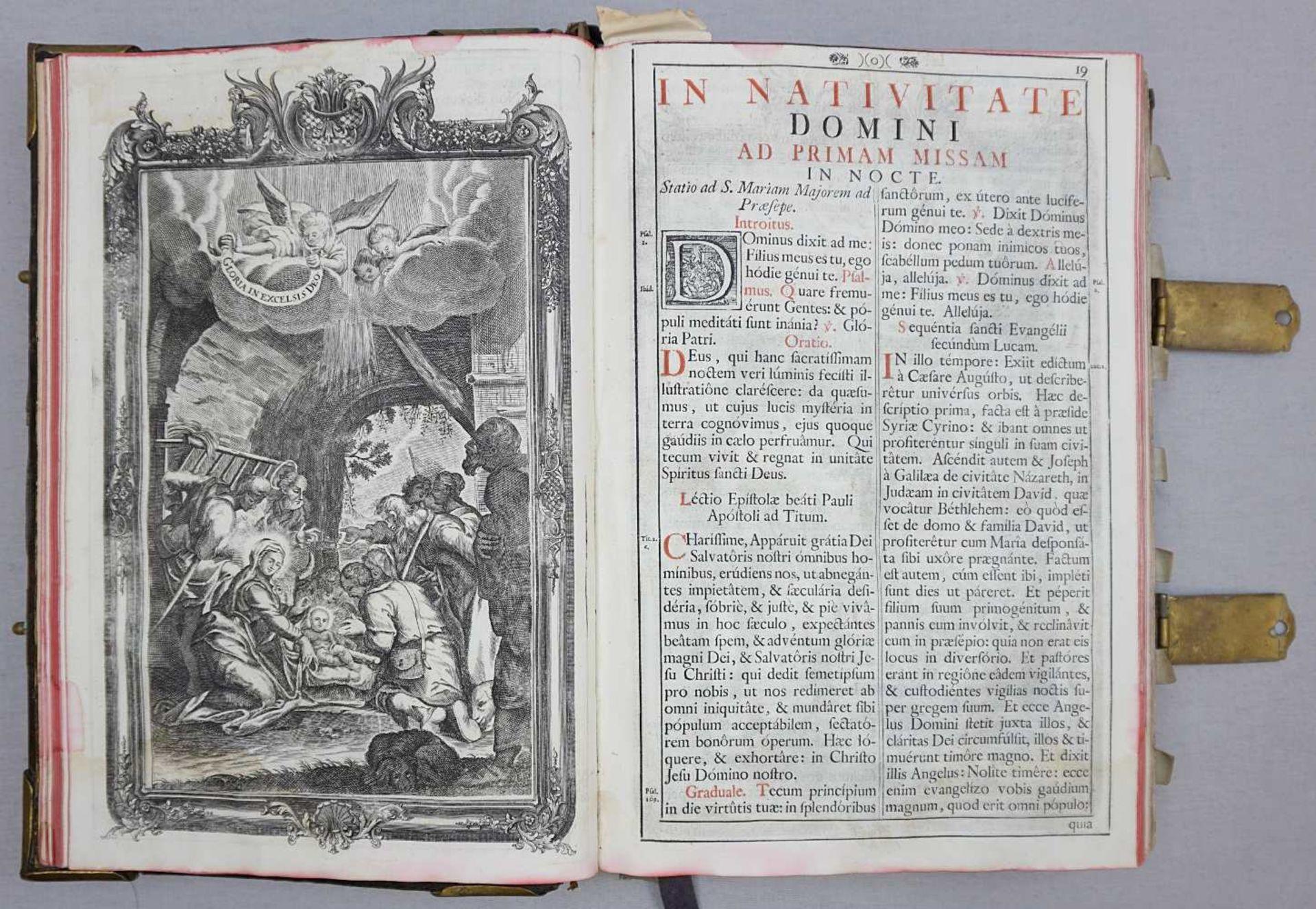 """1 Buch """"Missale Romano-Moguntinum ... D. Philippi Caroli"""" dat. 1742 mit Kupferstichen - Bild 3 aus 3"""