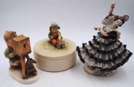 """1 Konv. Hummelfiguren GOEBEL wohl ab 1935/1950er Jahre u.a. u.a. """"Kunstmaler"""", """"Ich wünsch dir"""