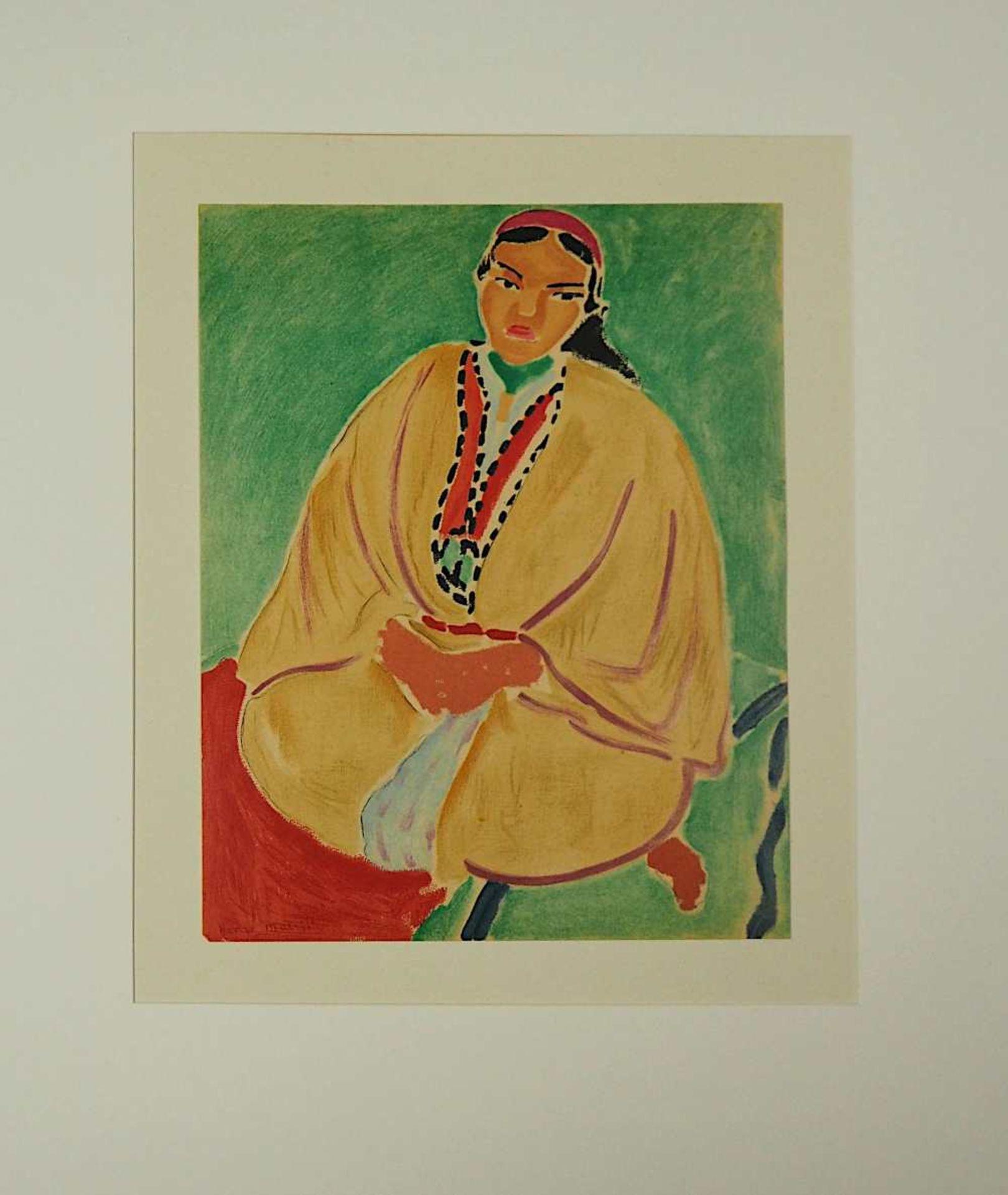 """2 Farblithographien je """"Portrait"""" je L.u. sign./rücks. zugeschrieben Henri MATISSE (w - Bild 2 aus 5"""
