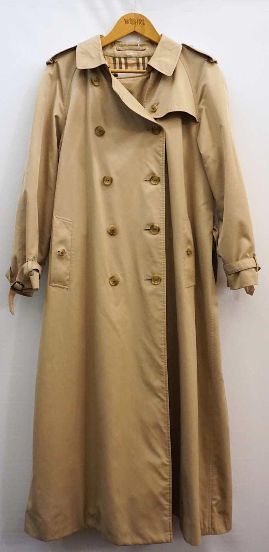 1 Mantel Textil beige ca. Gr. 38/40 Tsp.
