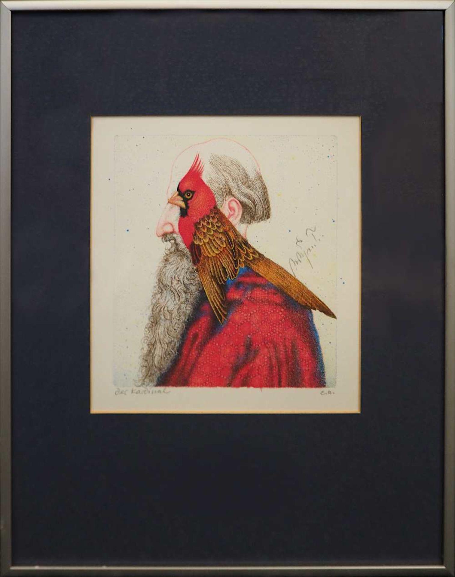 1 Farblithografie Mitte rechts bleistiftsign. M. M. PRECHTL (wohl Michael Mathias P. 1926-2003), - Bild 2 aus 4