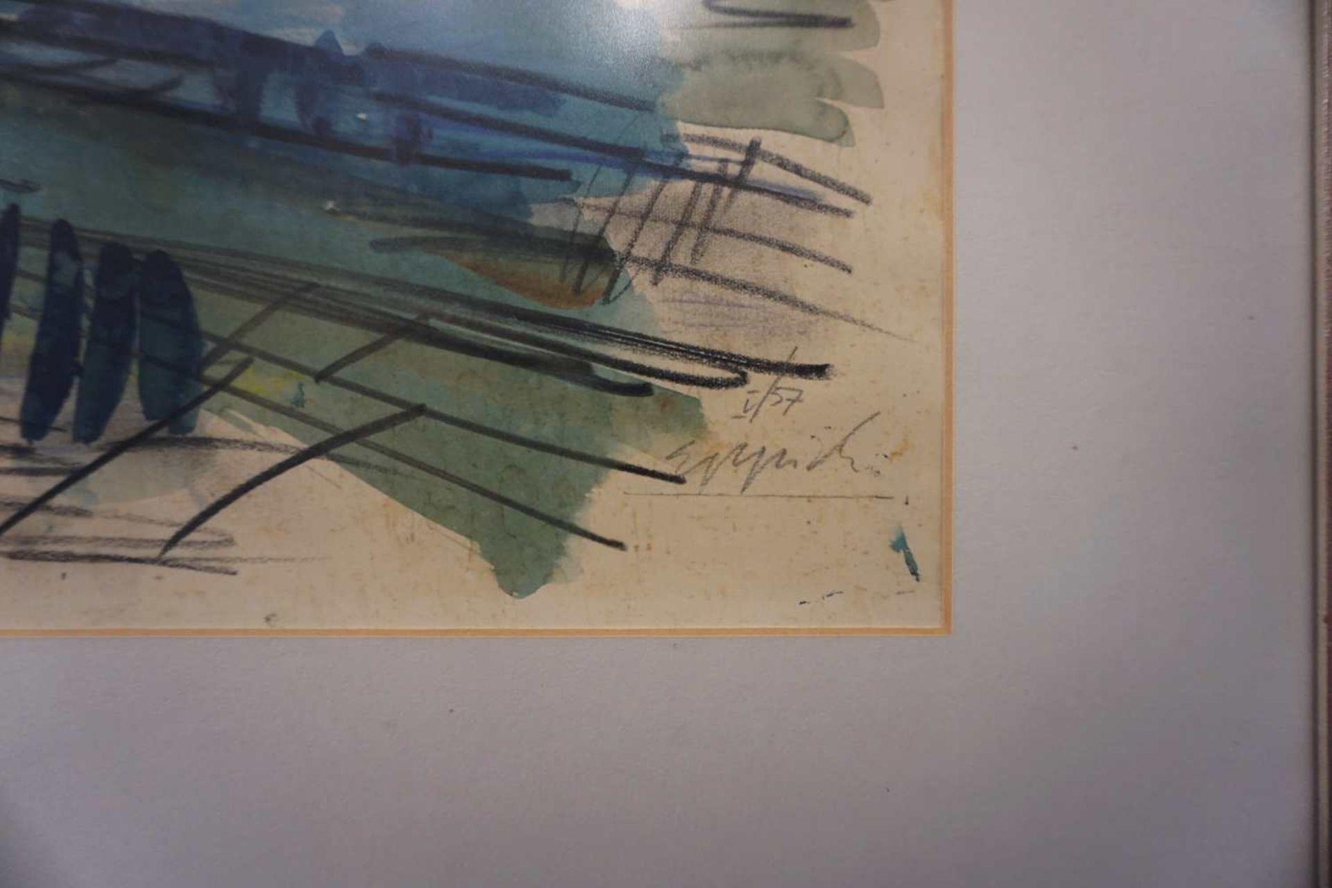 "1 Lithografie ""Flusslandschaft"", R.u. bleistiftsigniert EPPICH (wohl Egon E. 1927-1982 - Bild 2 aus 2"
