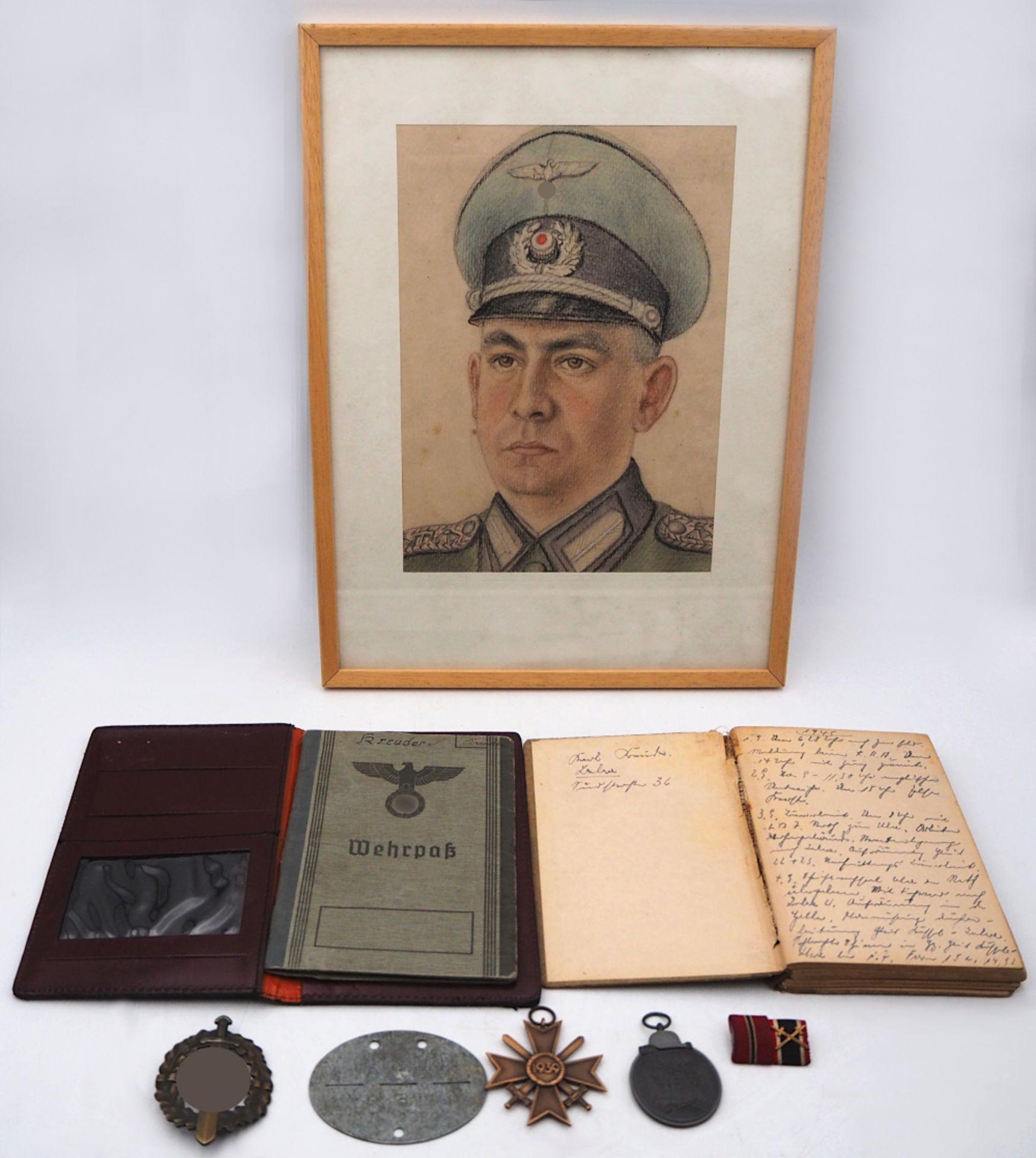 1 Militaria-Nachlass des Sonderführers (Z) Karl KREUDER, Feldeisenbahn mit Verleihung