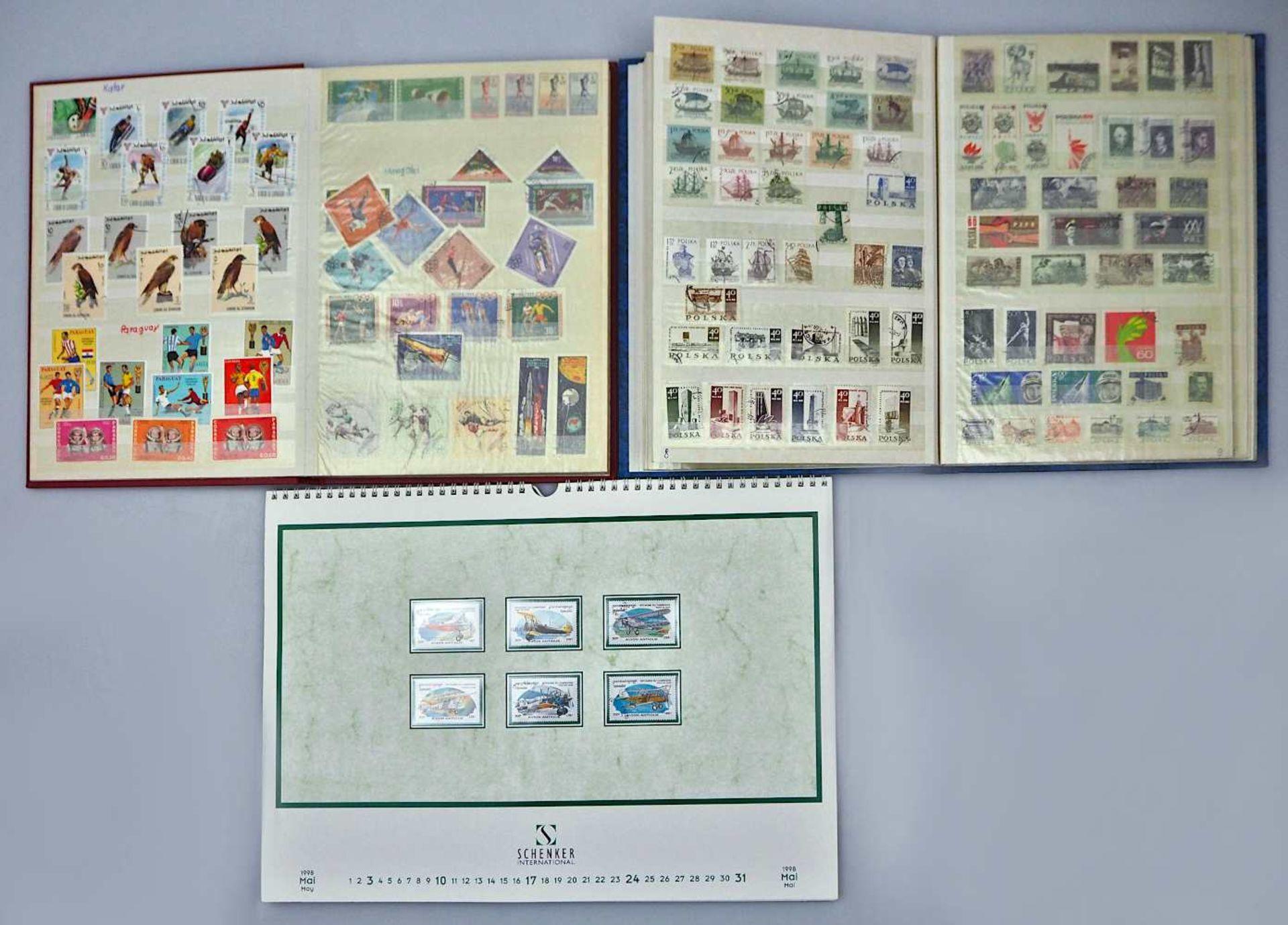 1 Konv. Briefmarken in 4 Alben: Deutsches Reich, BRD, DDR, 3. Reich, Alle Welt sowie 1 - Bild 2 aus 3