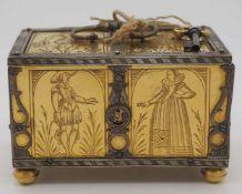 1 Hochzeitskästchen auf Deckel sign. Michel MAN (wohl Nürnberg um 1600 oder um 1900) Meisterarbeit