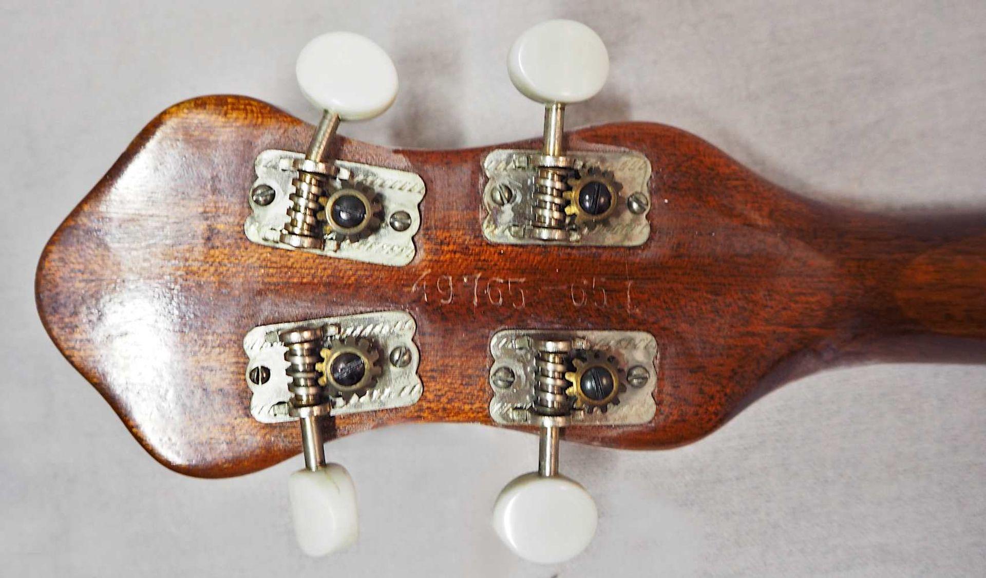 1 Banjo auf Resonanzfell/Kopfplatte bez. FRAMUS, wohl 1960er Jahre 4-saitig, mit Metal - Bild 5 aus 5