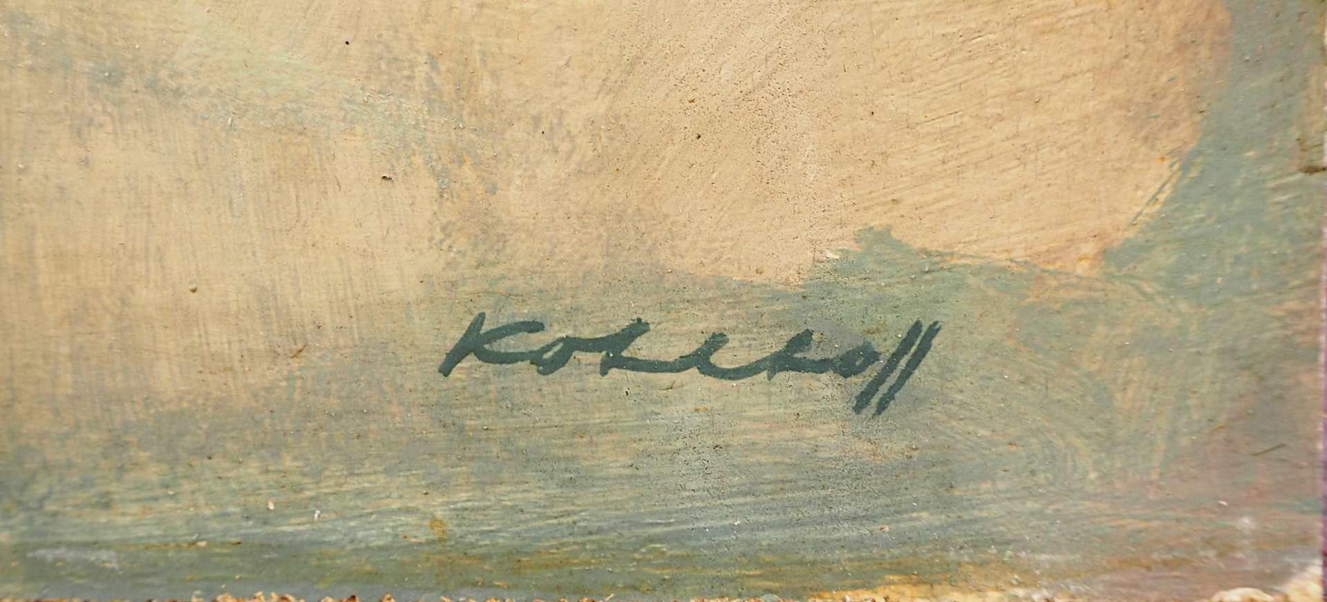 """1 Ölgemälde """"Junge mit Holzpferd"""" R.u. sign. KOHLHOFF (wohl Wilhelm K. 1893-1971) lt - Bild 2 aus 3"""