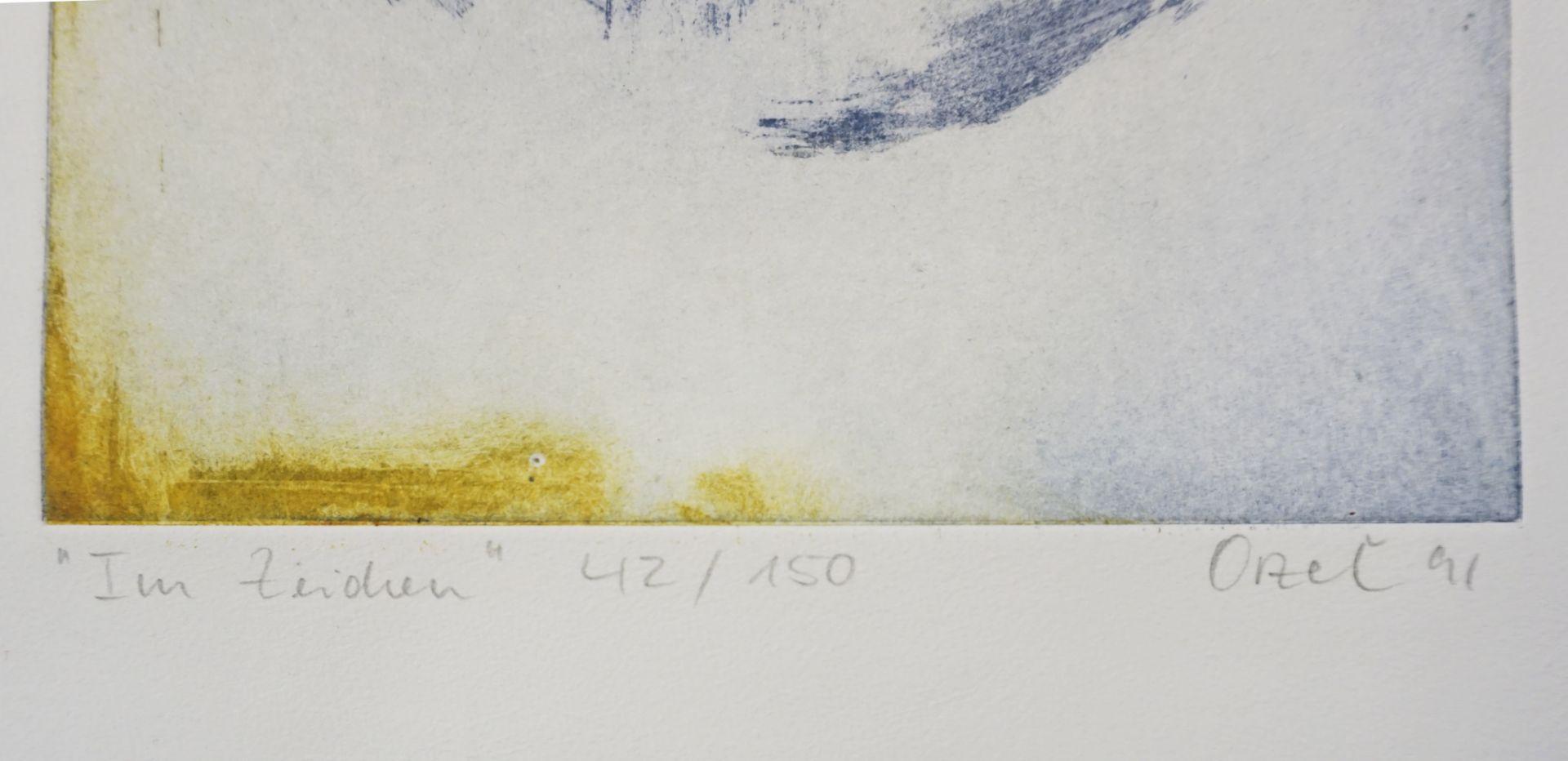 2 moderne Mischtechniken des 20. Jh., je ungerahmt, bleistiftsigniert, betitelt und limitiert::< - Bild 3 aus 3