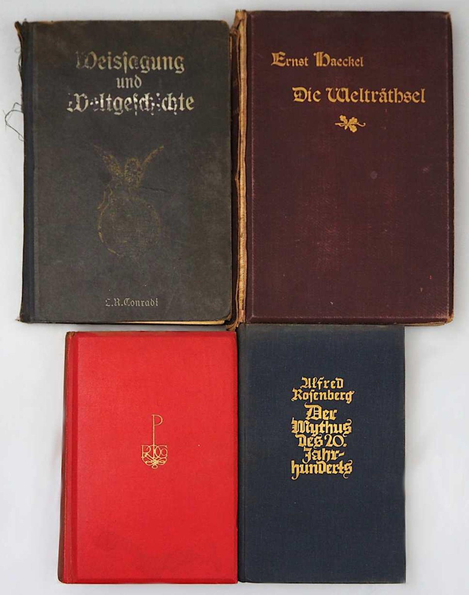 """1 Konv. Bücher z.T. Anfang 20. Jh.: u.a. """"Der Untergang des Abendlandes"""" (2 Bände) v"""