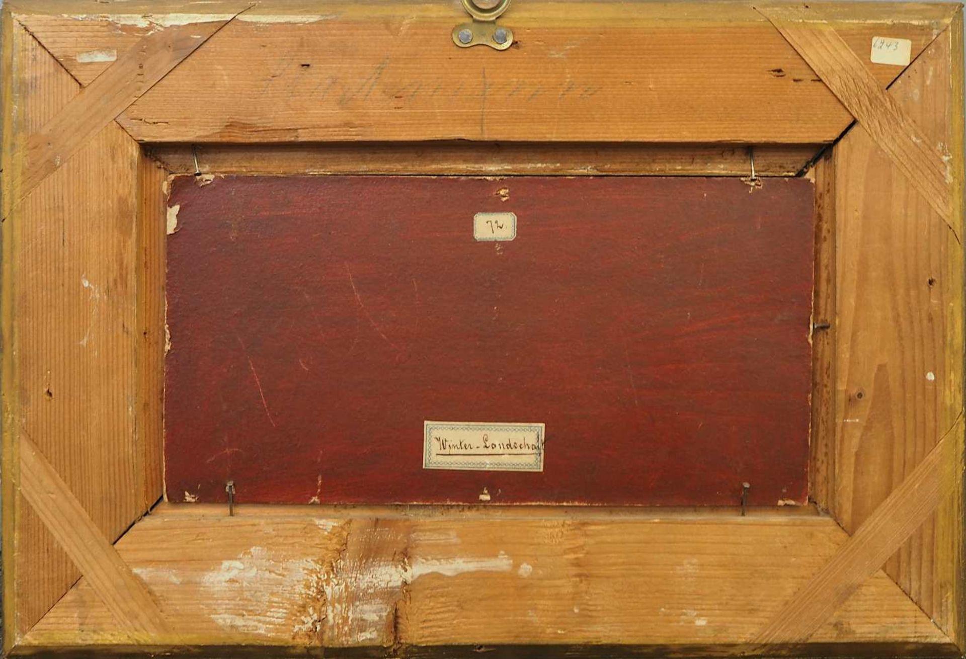 "1 Ölgemälde unsign. wohl um 1900, ""Eisvergnügen"", Öl/Platte, ca. 12x25,5cm, Craque - Bild 3 aus 3"