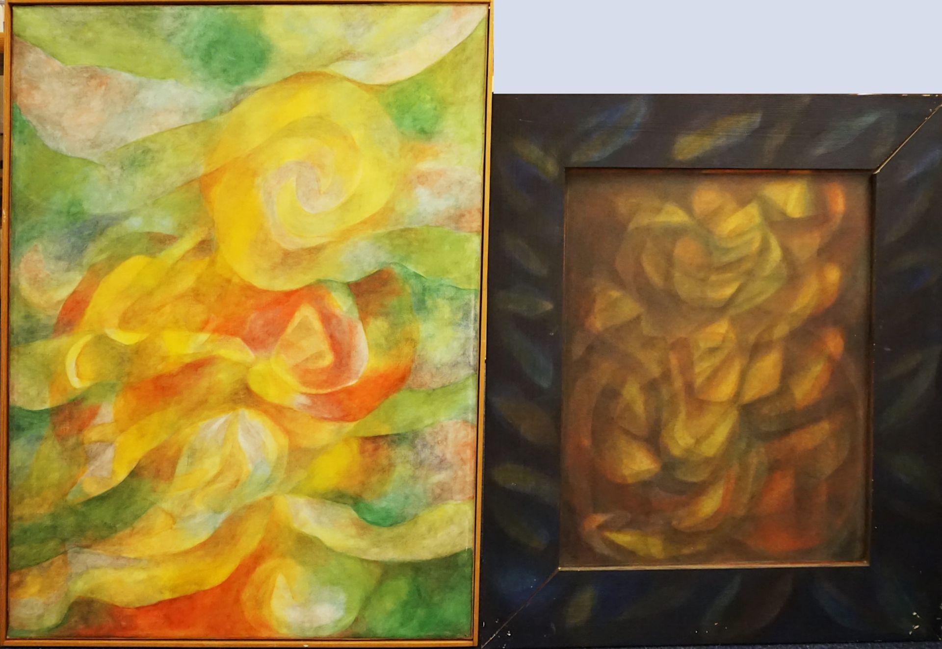 """3 Werke der Künstlerin Annette ENGERER (wohl *1954) z.T. bez. """"Verwandlung IV"""" u.a., - Bild 3 aus 3"""