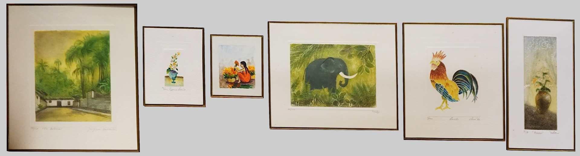 1 Konv. Mischtechniken z.T. Mexiko 1980er Jahre versch. Künstler Mela GAOS, Josefina BALLESTER, - Bild 2 aus 2