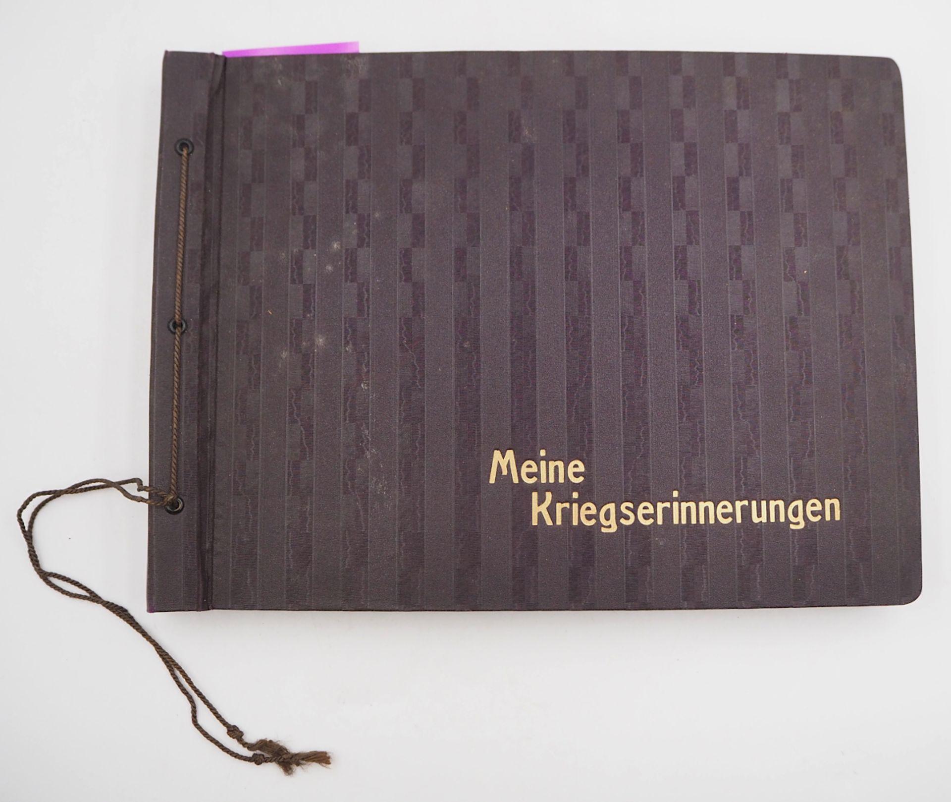 """1 Konv. Fotoalben 1./2. WK. u.a. mit Beschriftungen: 3 Alben """"Meine Kriegserinnerungen"""