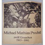 1 Sammlung Kunstbücher mit dem Schwerpunkt Michael Mathias PRECHTL (wohl 1926-2003) z.T. mit Or