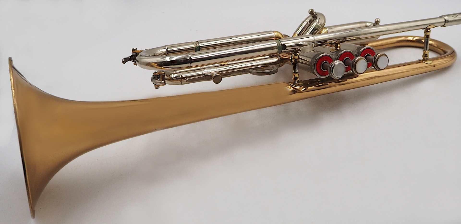 """1 Trompete SCHMIDTCO """"New Star"""" nztl. Messing, mit 3 Ventilen, L ca. 54cm, mit Trageko - Bild 3 aus 5"""