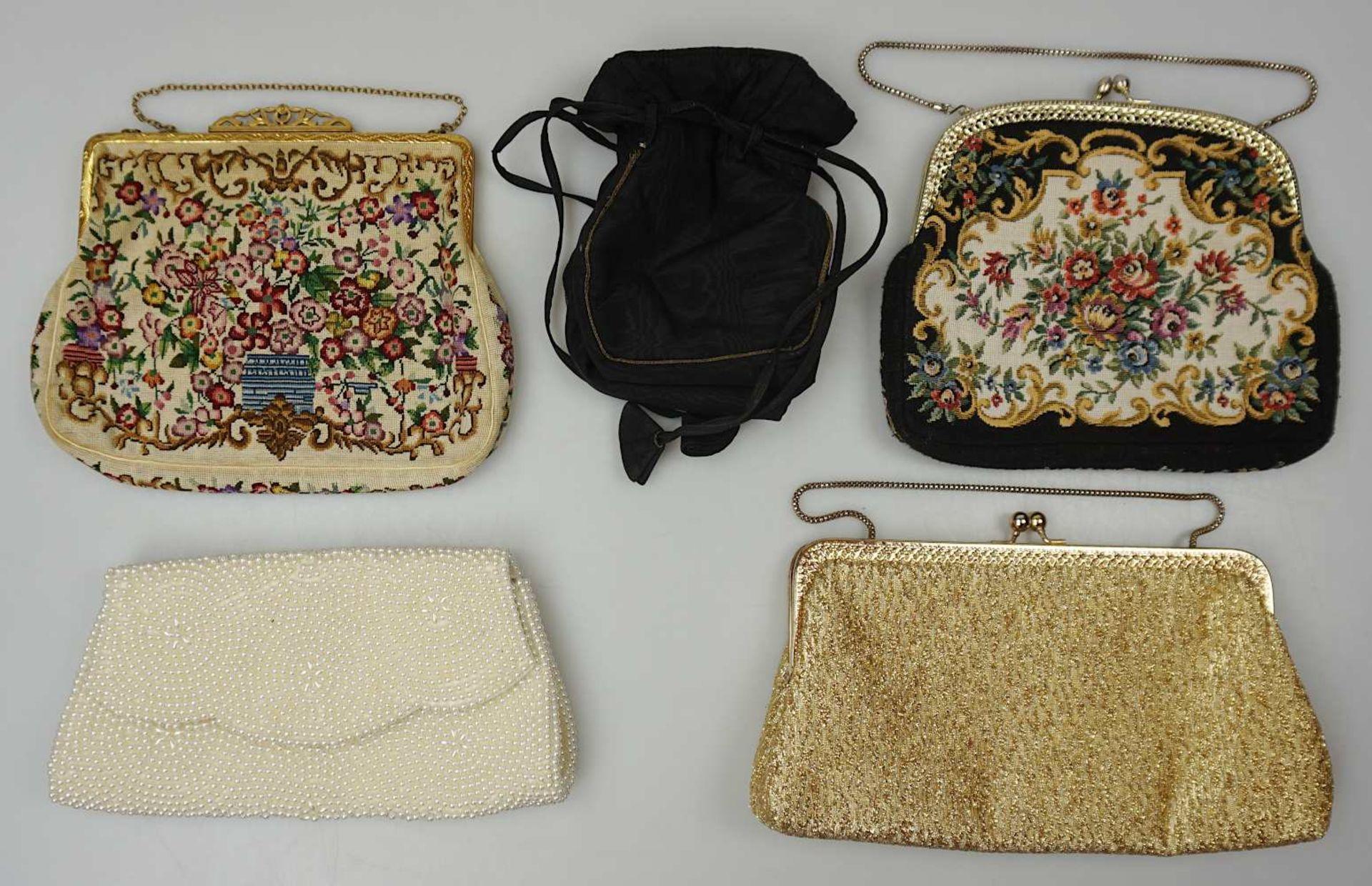 1 Konv. Hand-/Abendtaschen Straußenleder, Leder, Textil u.a. Gsp. - Bild 5 aus 5