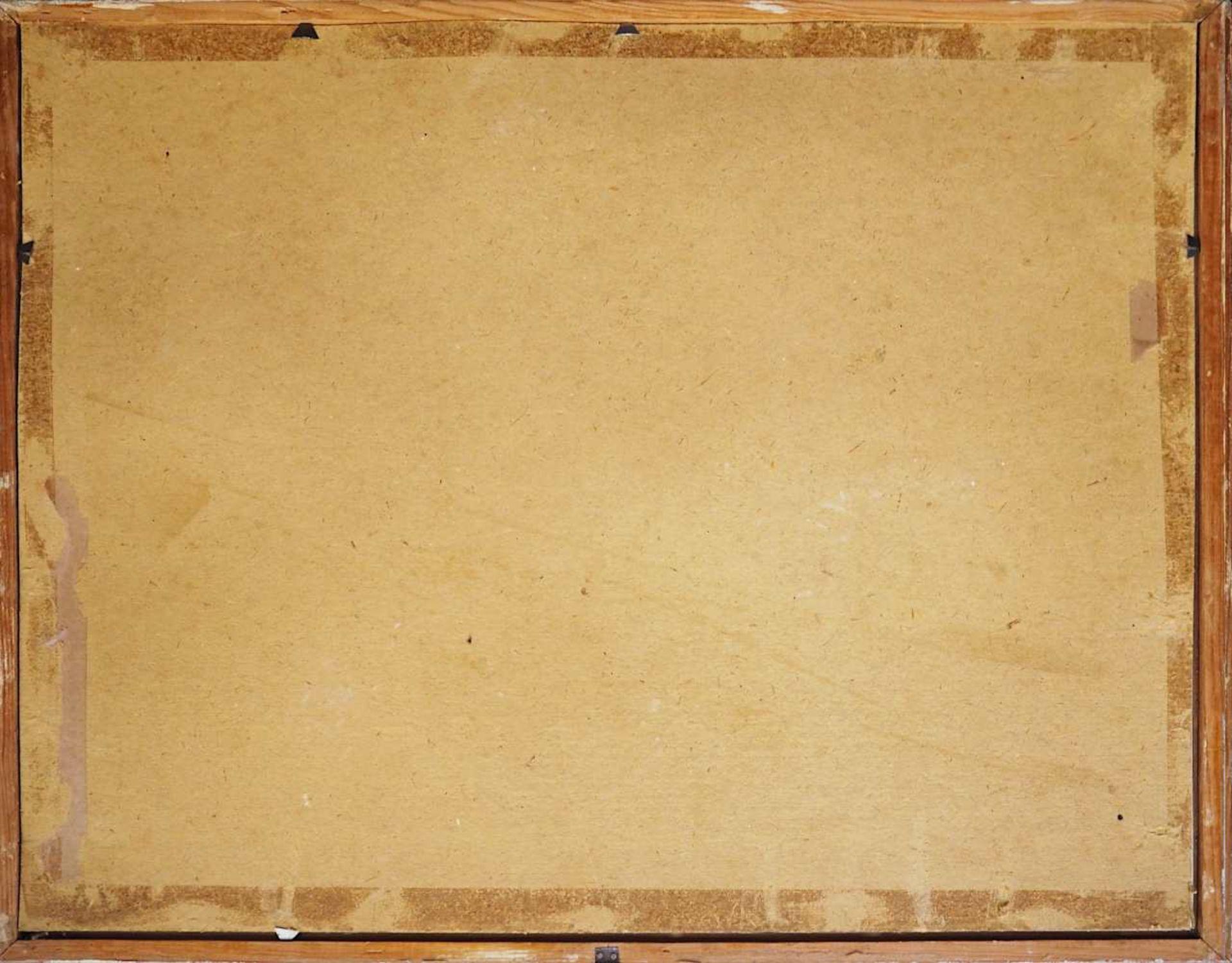 """1 Gouache R.u. sign. F. BLÄDEL (wohl Fritz B. 1903-1950), """"Burgthann im Winter"""", ca. - Bild 5 aus 5"""
