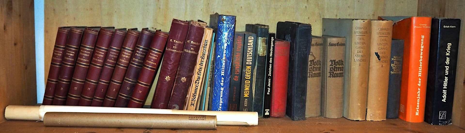 """1 Konv. Bücher z.T. Anfang 20. Jh.: u.a. """"Der Untergang des Abendlandes"""" (2 Bände) v - Bild 2 aus 2"""