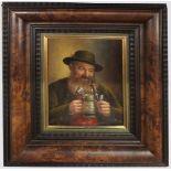 """1 Ölgemälde """"Bergbauer mit Bierkrug und Pfeife"""" L.u. sign. W. PURSCHKE (wohl Walther"""