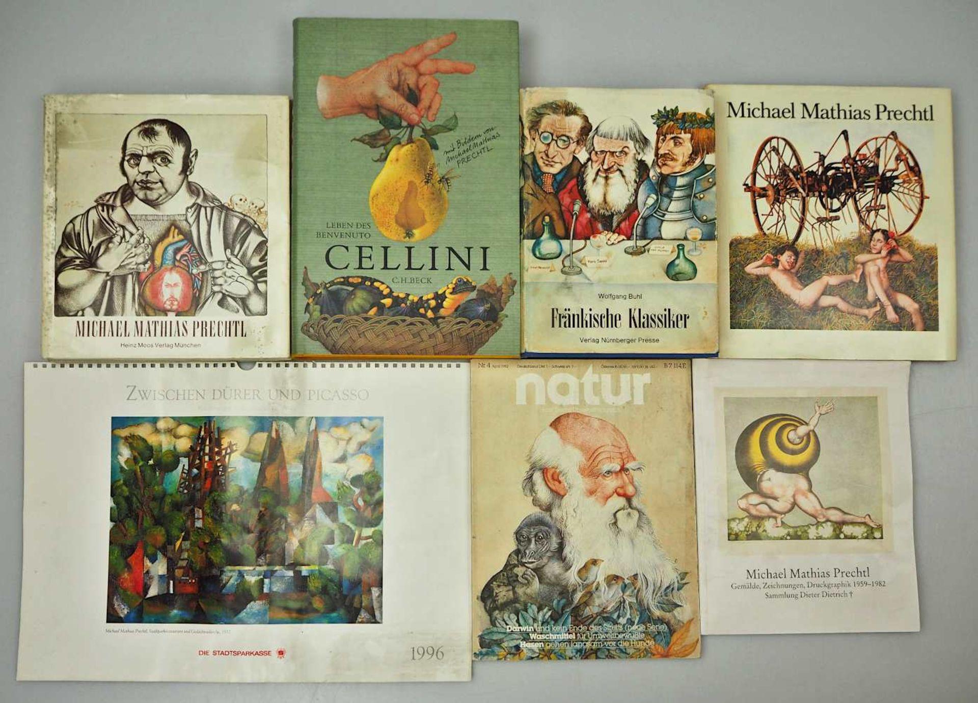 1 Sammlung Kunstbücher mit dem Schwerpunkt Michael Mathias PRECHTL (wohl 1926-2003) z.T. mit Or - Bild 7 aus 11