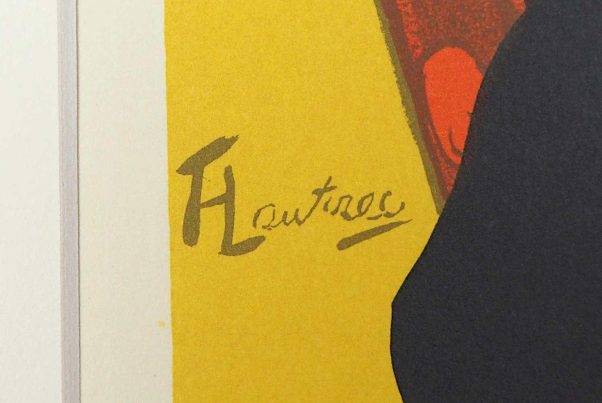 "1 Farblithographie ""Reine de Joie"" L. mittig sign./rücks. zugeschrieben TOULOUSE LAUTREC <b - Bild 2 aus 3"