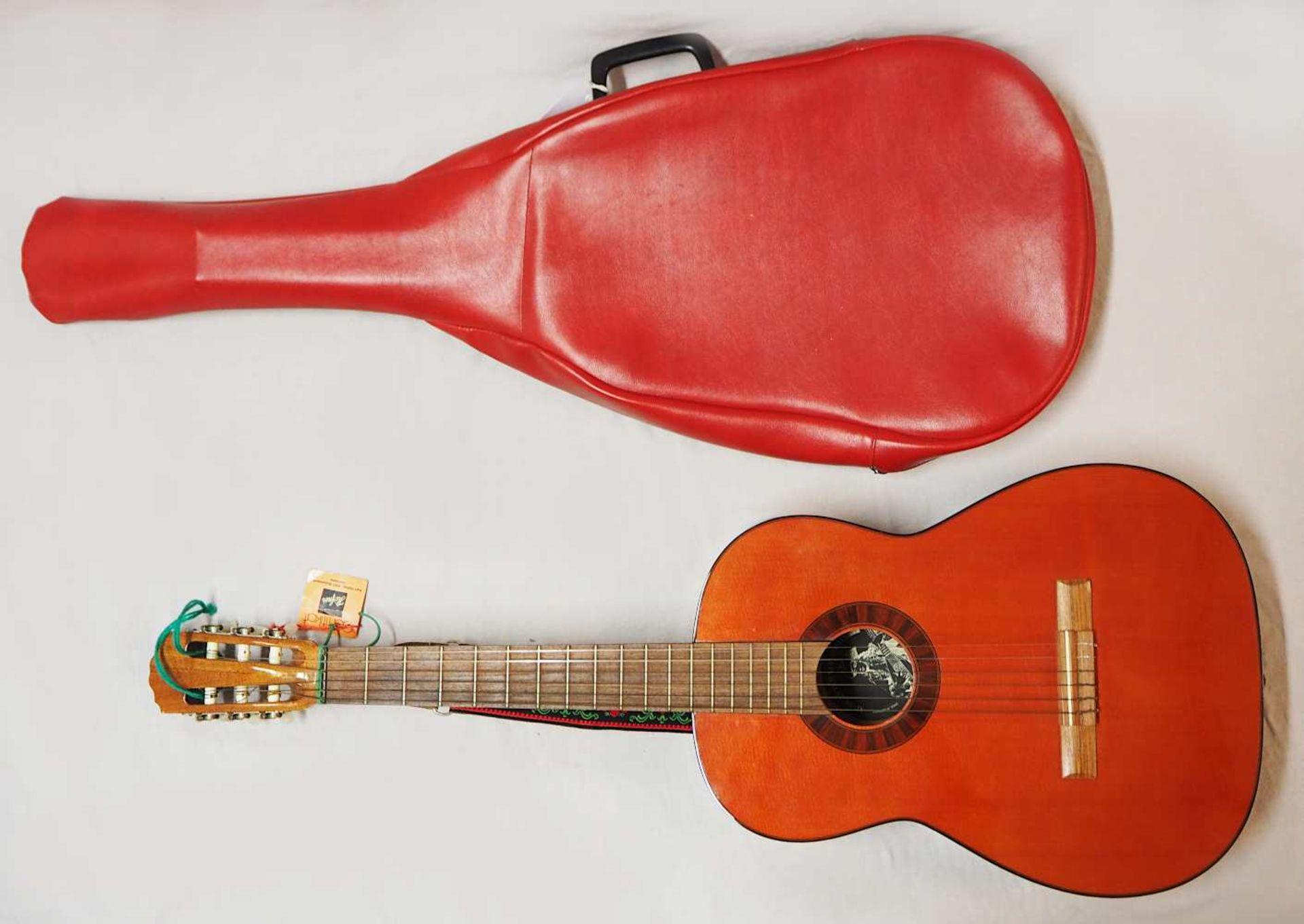 1 Konzert-Gitarre HÖFNER Modellnummer: 4840, wohl z.T. Rosenholz min. intarsiert auf - Bild 3 aus 8