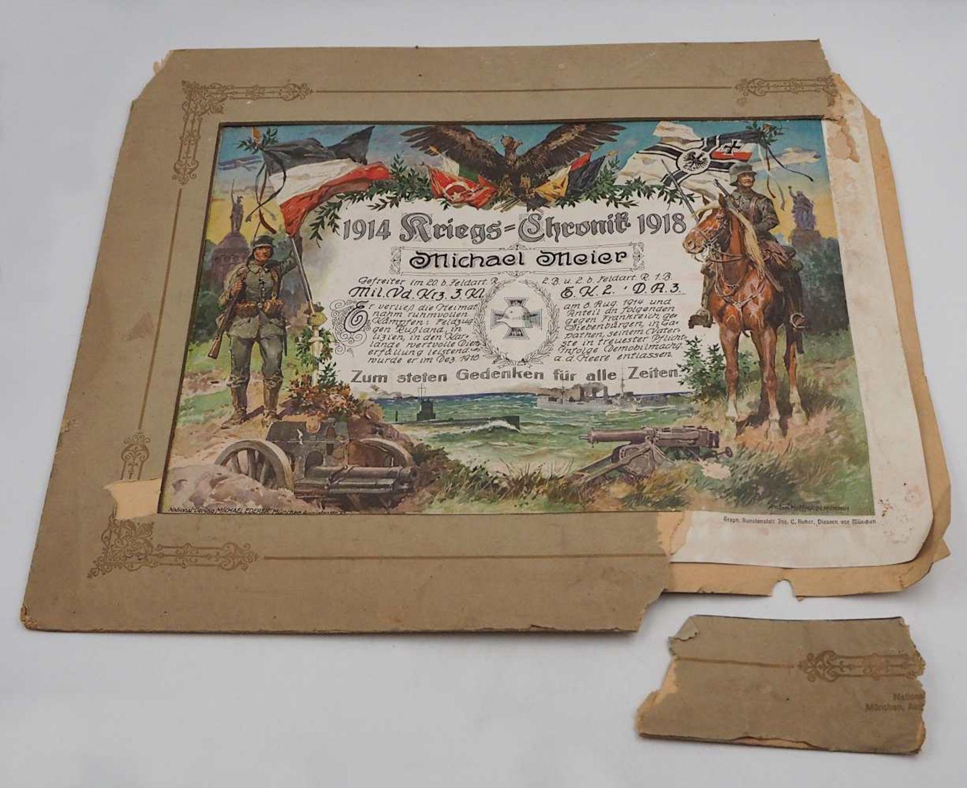 "1 Konv. Memorabilia 1. WK: 2 Fotografie-Kollagen: ""5./F/B.8.F.Art. Rgmt. Nürnberg 190 - Bild 3 aus 3"