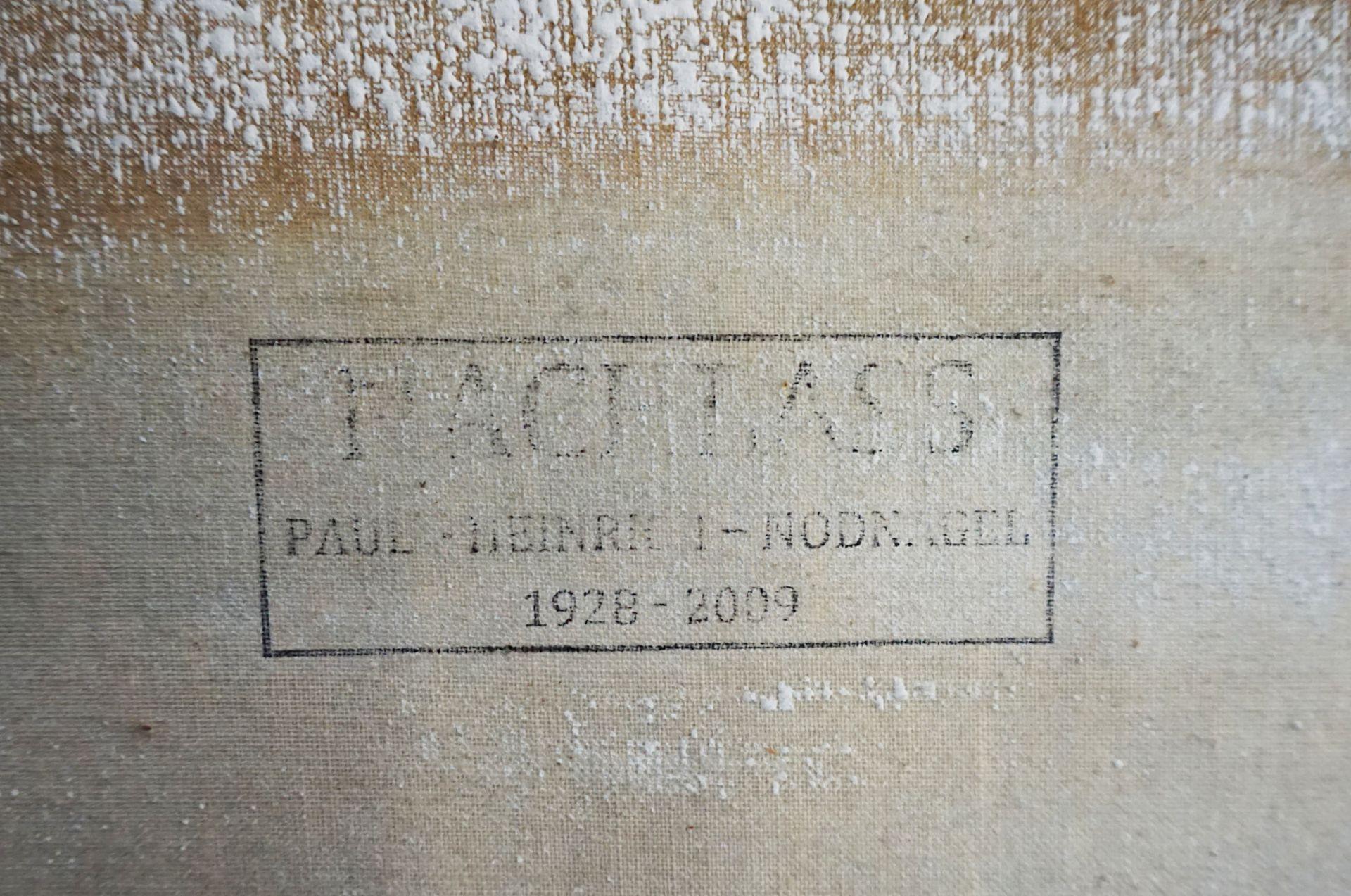 """1 Ölgemälde """"Marionettenspieler"""" L.o. monor. PN (wohl Paul Heinreich NODNAGEL 1928-2 - Bild 6 aus 6"""