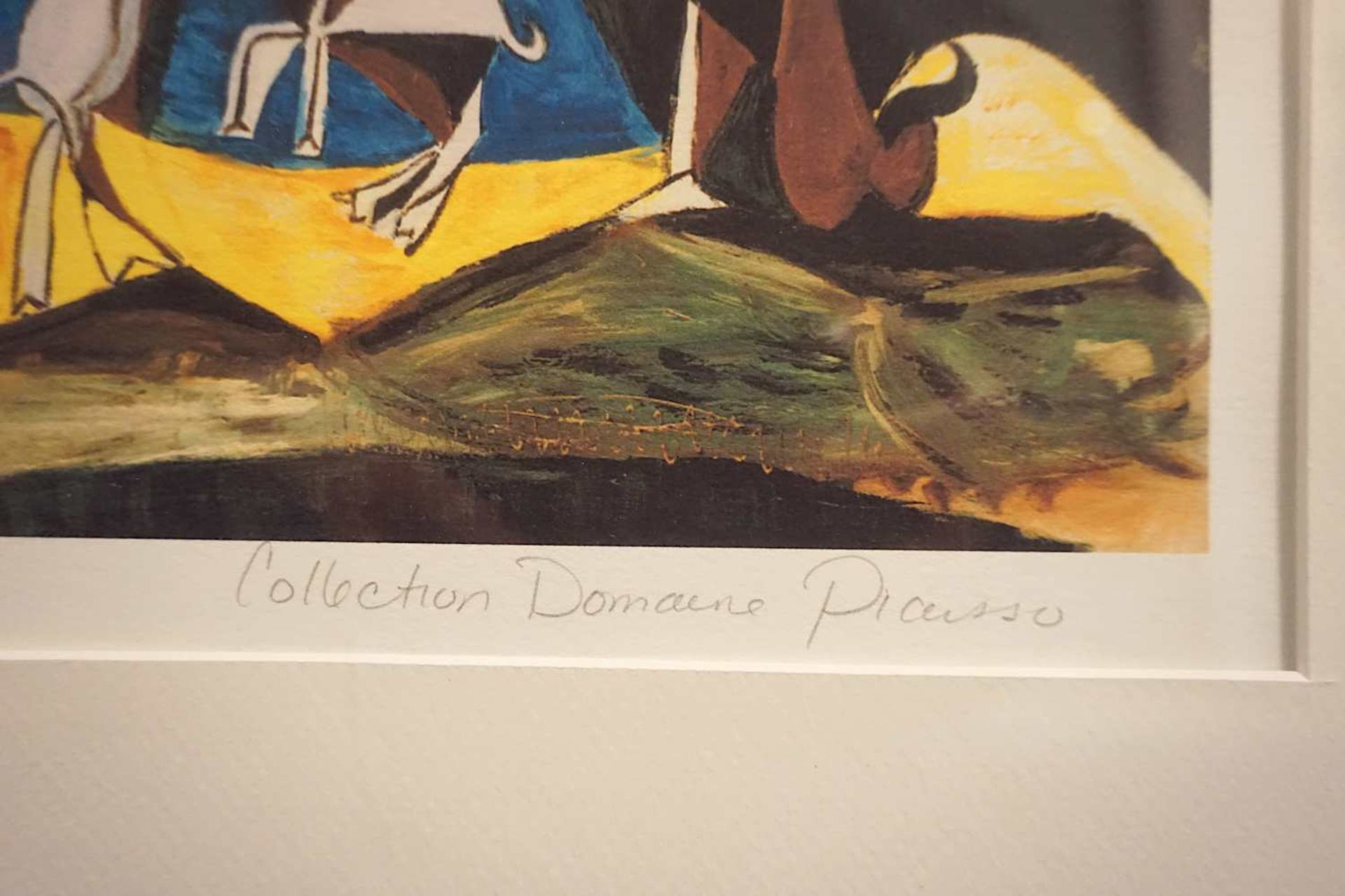 "1 Giclée-Druck ""Joy of Living"" R.u. bleistiftbez. ""Collection Domaine PICASSO"" L.u. n - Bild 3 aus 3"