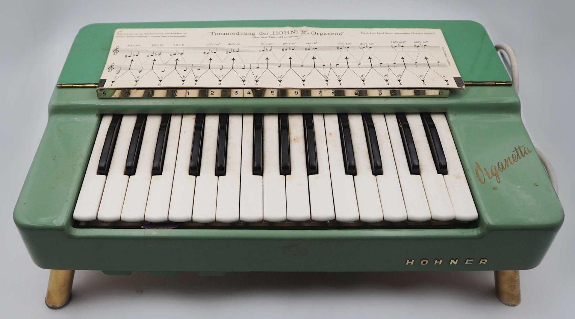 """1 Tischorgel HOHNER """"Organetta"""" wohl um 1958 Korpus lackierte Fichte, 29 Tasten, für - Bild 2 aus 3"""