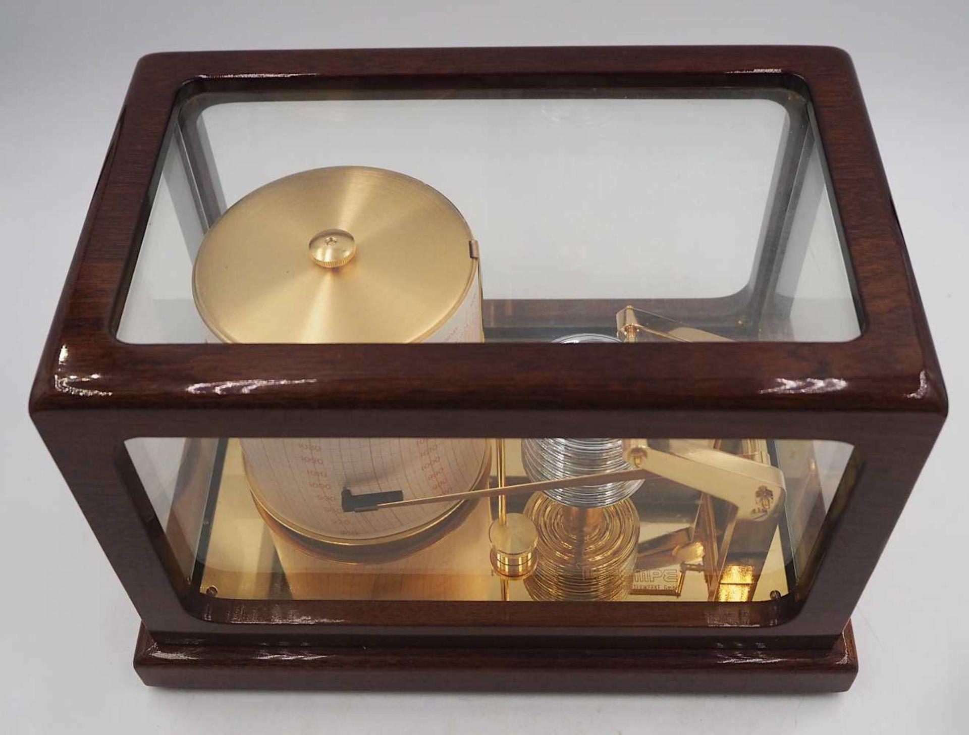 1 Trommelbarograph WEMPE CHRONOMETERWERKE GmbH, 20. Jh. wohl Mahagoni-Gehäuse allseit - Bild 5 aus 6
