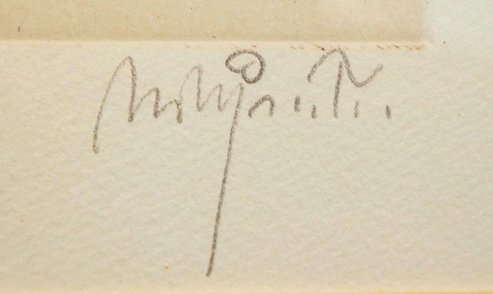 """1 Farbradierung R.u. bleistiftsign. M. M. PRECHTL (wohl Michael Mathias P. 1926-2003), """"Voltaire - Bild 3 aus 5"""