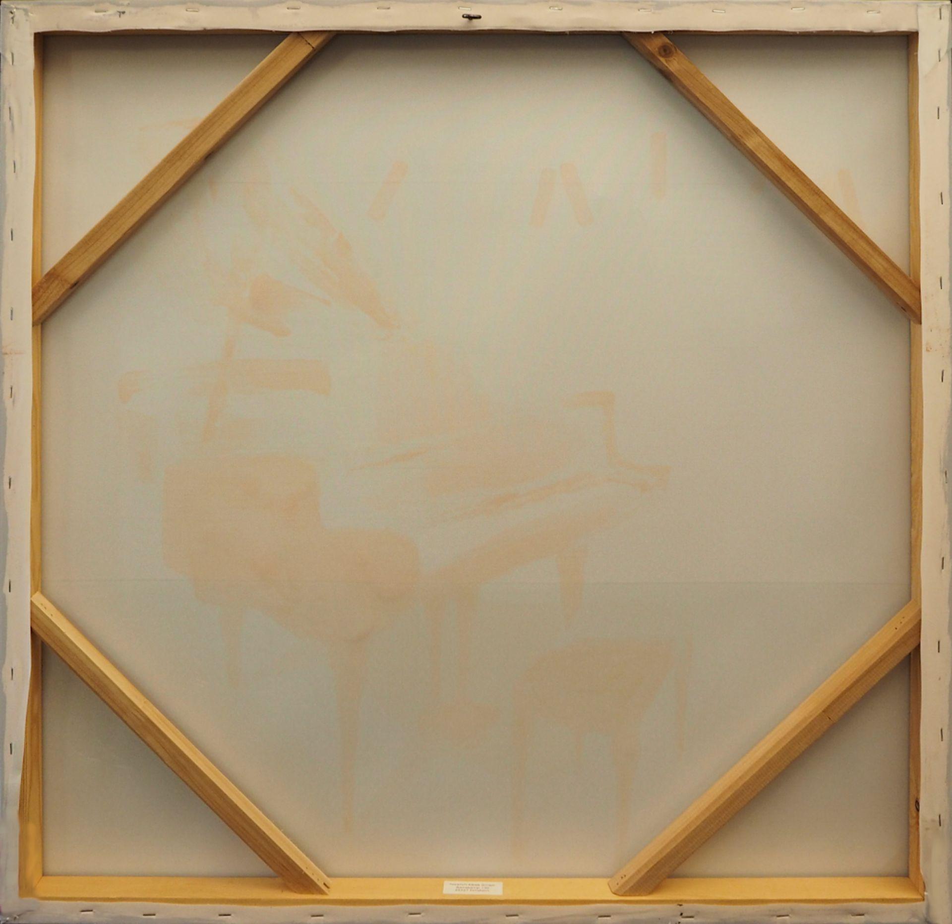 """1 Ölgemälde unsign. 20.Jh., """"Bunter Flügel"""", Öl/Lwd., ca. 80x80cm, Asp. - Bild 2 aus 2"""