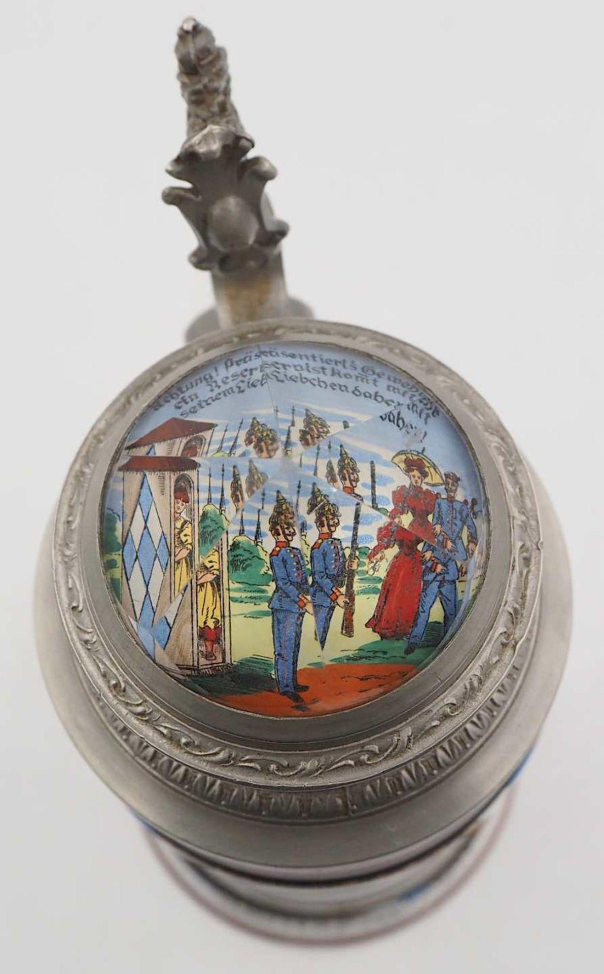 """1 Reservistenkrug """"Kgl. bayr. 14. Inft. Regt. """"Hartmann"""" 7. Comp. Nürnberg 1904-06"""" W - Bild 6 aus 6"""
