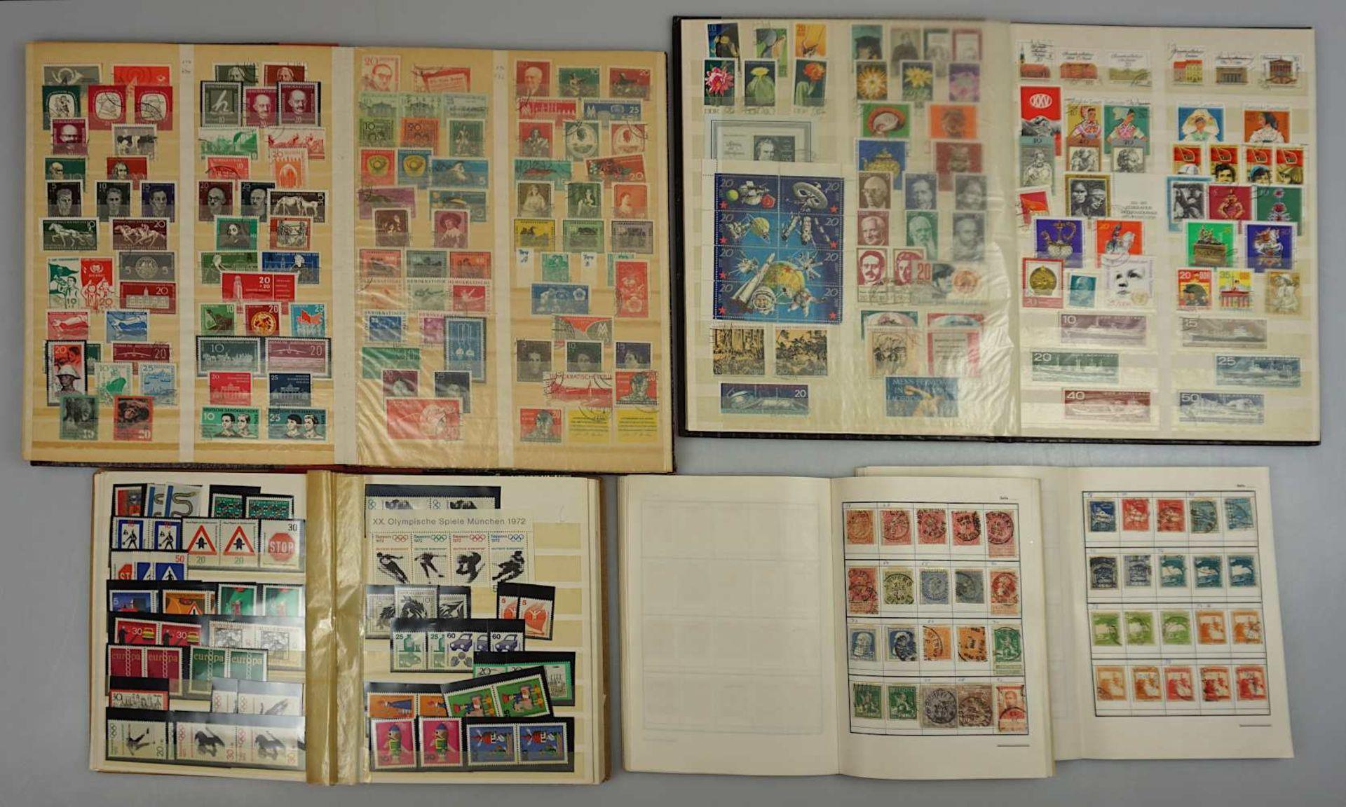 """1 Konv. Briefmarken in 9 Alben: BRD, DDR, Deutsches Reich, Drittes Reich, """"Deutsche Fl - Bild 2 aus 2"""