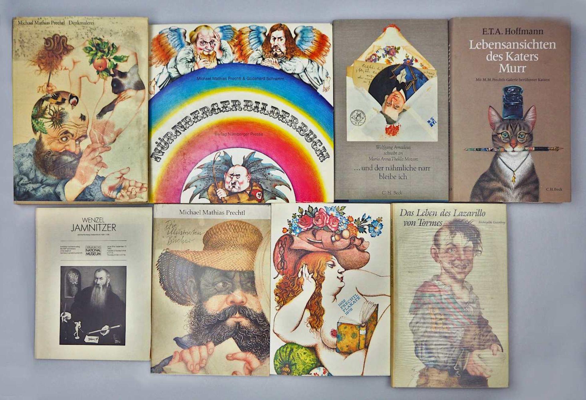 1 Sammlung Kunstbücher mit dem Schwerpunkt Michael Mathias PRECHTL (wohl 1926-2003) z.T. mit Or - Bild 6 aus 11